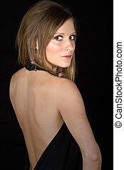 Beautiful Teen - Attractive Teen Looking over her Shoulder