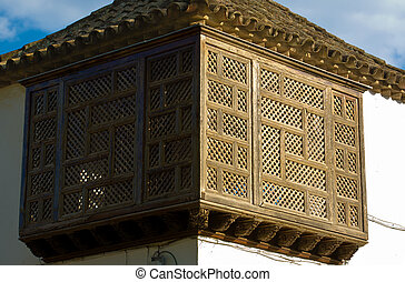 Latticework bakcony - Traditional architecture in of the...