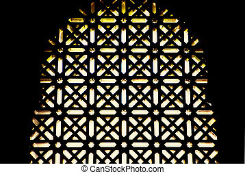 Mosque windows latticework - Ornament lattice window in...