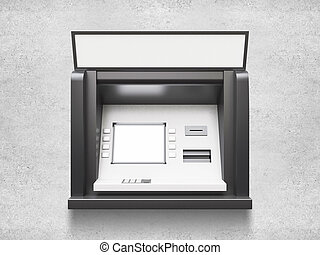 ATM machine with blank display
