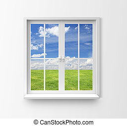 window - Modern residential window with lake view