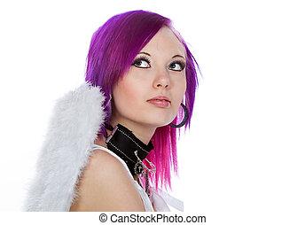 Alternative Girl in Angel Wings
