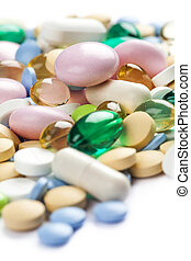 Color pharmaceutical pills