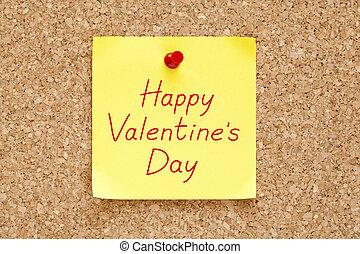Happy Valentines Day Sticky Note - Happy Valentine's Day...
