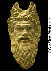 Mask of the God Pan - Marble representation, in the form of...