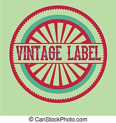 vintage label over green background vector illustration