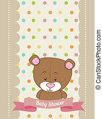 baby design - baby design over dotted background vector...