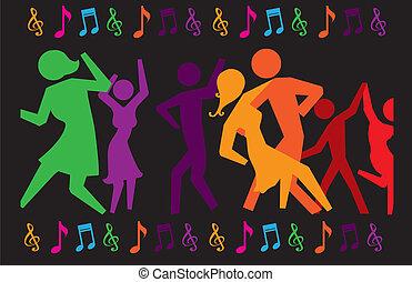 party design over black background vector illustration