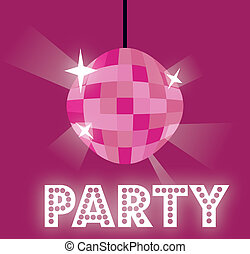 party design over purple background vector illustration