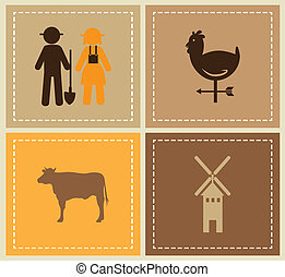 farm design over  beige  background vector illustration