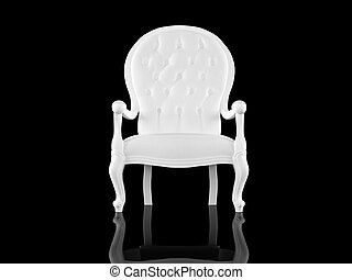 White armchair - High resolution image white armchair 3d...