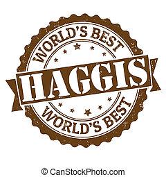 Haggis stamp - Haggis grunge rubber stamp on white, vector...