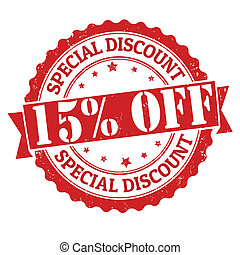 Special discount 15% off stamp - Special discount 15% off...