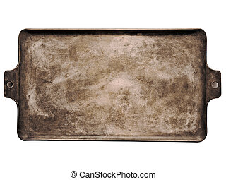 old rustic baking sheet - close up of an old rustic baking...