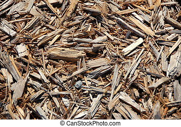 pine bark mulch closeup texture garden preparation