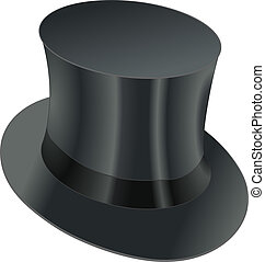 top hat - isolated black top hat