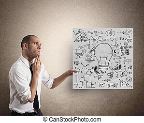 Creative business idea - Businessman with Creative business...