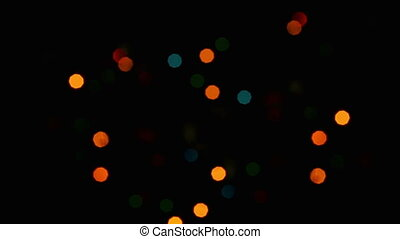 Flashing lights background, small size