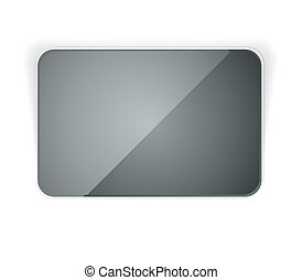 dark rectangle button - the blank dark glossy rectangular...