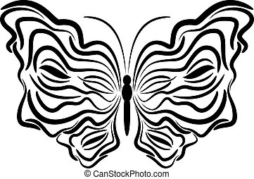 Exotic butterfly. - Exotic butterfly abstract patterns, EPS8...