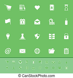 General folder color icons on green background