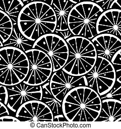 Lemon pattern - Citrus slice background, seamless pattern in...