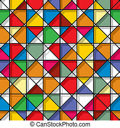 Stained glass seamless pattern