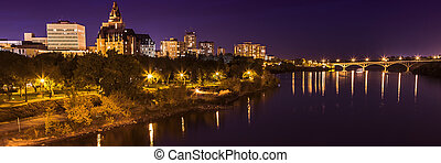 Saskatoon at Night - The city lights of Saskatoon at night...