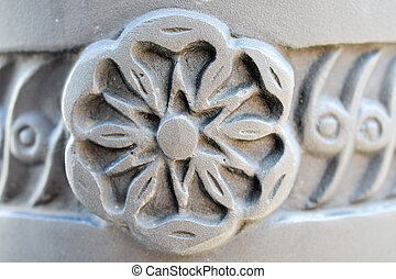 Carved stone detail