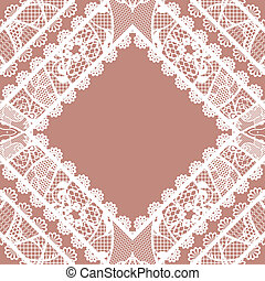 Lacy vintage background. Vector illustration.