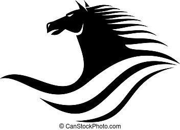 Dynamic horse head icon