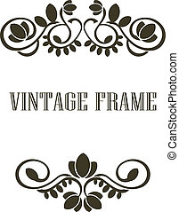 Vintage frame border elements - Black and calligraphic...