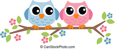 two sweet owls  - two sweet owls
