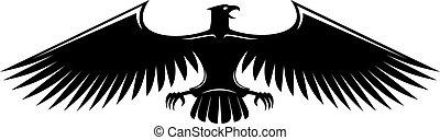 Heraldic eagle isolated on white background