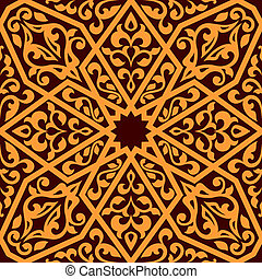 Arabian seamless tile pattern - Arabian tile pattern in...