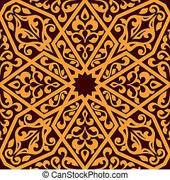 Arabian seamless tile pattern - Arabian tile pattern in...