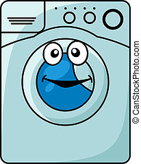 Washing machine cartoon illustration
