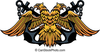 Maritime emblem with double headed eagle - Maritime or...