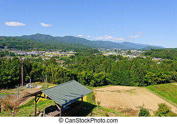 Achi village in Nagano, Japan - Achi village is located in...
