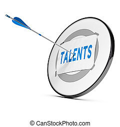 Talent Recruitment or Acquisition Concept - One arrow...