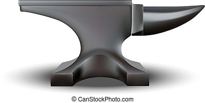 Anvil isolated on white background. vector illustration