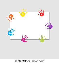 Cover sheet with prints of childrens hands - Cover sheet...