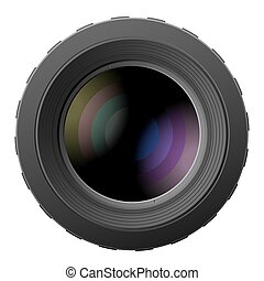 Vector illustration of camera lenses