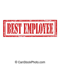 Best Employee-stamp - Grunge rubber stamp with text Best...