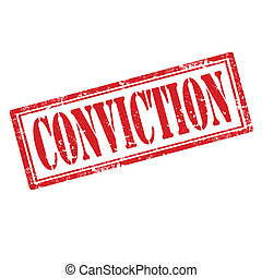 Conviction-stamp - Grunge rubber stamp with text...