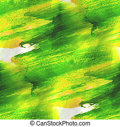 green, yellow texture watercolor seamless