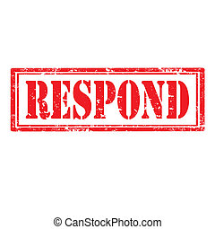 Respond-stamp - Grunge rubber stamp with word Respond,vector...