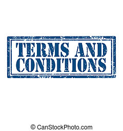 Terms And Conditions-stamp - Grunge rubber stamp with text...