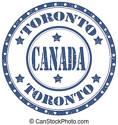 Toronto-Canada - Grunge rubber stamp with text...