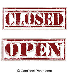 closed open